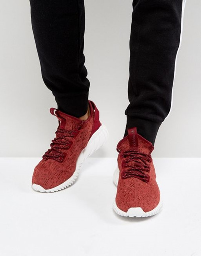 official photos 2b84d 9b3db adidas Originals Tubular Doom Sock Primeknit Sneakers In Red BY 3560