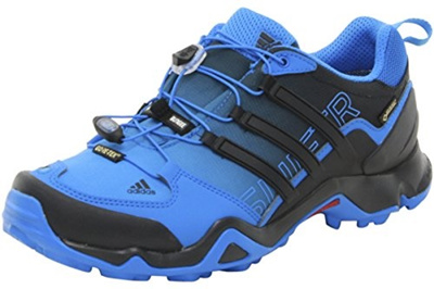 (adidas outdoor) Adidas Terrex Swift R Gtx W Shock BlueBlackChalk White Women s Hiking Shoes