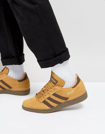 Qoo10 - adidas Skateboarding Busenitz Sneakers In Yellow BY3966   Shoes a2ef179098e