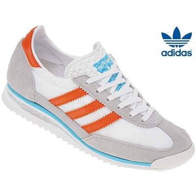 magasin en ligne 015ad ef74b [Adidas]SL72 White / Gray / Orange M21236 Adidas SL72 Original Sneakers  Shoes Running Unisex