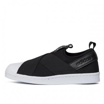 ?Super Sale?2017 Adidas Superstar SLIP ONS81337 BLACK sneakers /Couple  Sneakers