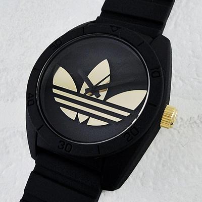 3201619f0a88 Adidas watches men s ladies watches Santiago black gold ADH 2912 brand  couple unisex men and women