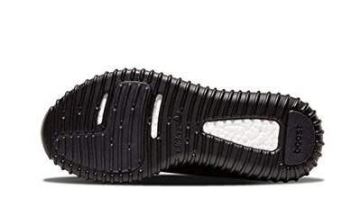 (Adidasingmy) adidas Mens Yeezy Boost 350 Black Fabric US8.5 n-