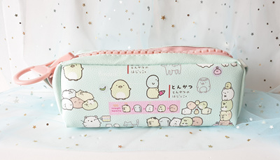 Adorable Large Zip Pencil Case |Cute Japanese Stationery|Cosmetic  Pouch|Green Pencil Box|SG Delivery