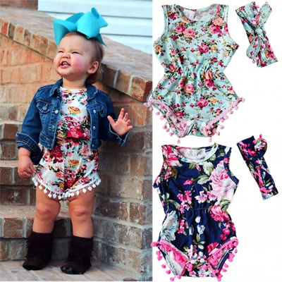 ae9e681fa7d5 Qoo10 - Adorable Newborn Baby Girls Floral Bodysuit Romper Jumpsuit Sunsuit  Ou...   Baby   Maternity