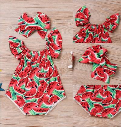 1e2b9d84227a Qoo10 - Adorable Newborn Baby Girls Romper Watermelon Clothes Jumpsuit  Bodysui...   Baby   Maternity