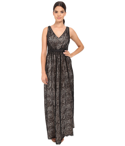 a998e44f126 Qoo10 - Adrianna Papell Halter Lace Illusion Dress   Women s Clothing