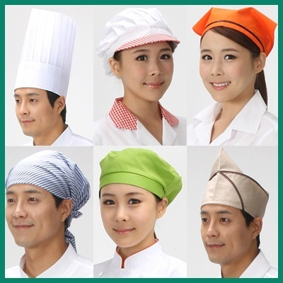 Adult Kitchen Cooking One Size Elastic White Chef Hat Baker Bbq Hat Costume Cap