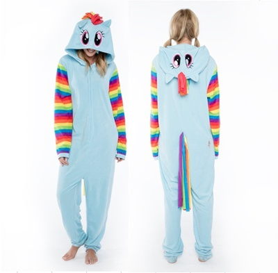 Qoo10 - Adult Onesies Womens Juniors My Little Pony Rainbow Dash Footed  Pajama...   Kids Fashion ad547db4f