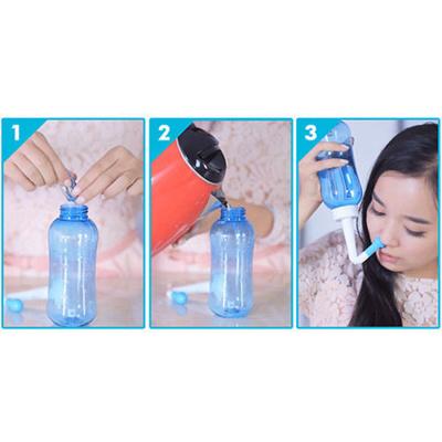 Adults Kids Neti Pot Nasal Nose Wash Yoga Detox Sinus Allergies Relief Rinse