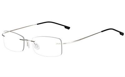 8458cfab02 (Agstum) Agstum Mens Womens Titanium Alloy Flexible Rimless Frame  Prescription Eyeglasses 51mm-A