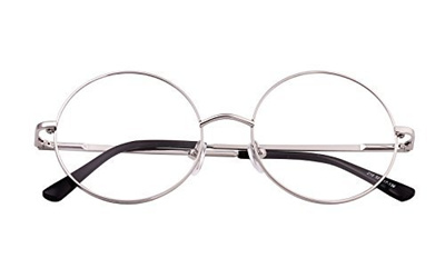 bcbd43167a (Agstum) Agstum Retro Round Prescription ready Metal Eyeglasses Frame Clear  Lens 51mm (X