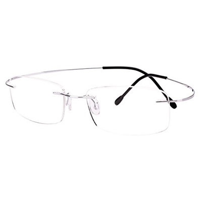 aa70b3972e Qoo10 - Agstum Pure Titanium Rimless Frame Prescription Hingeless Eyeglasses  R...   Men s Bags   Sho.