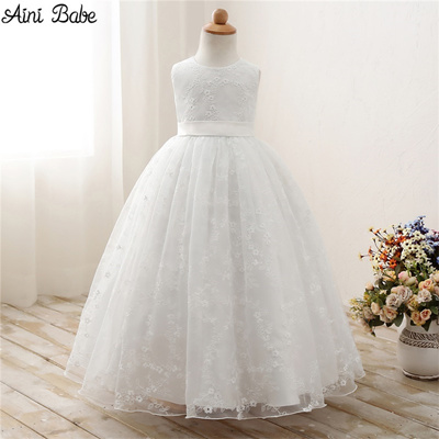 351be9031027 Qoo10 - Aini Babe White First Communion Dresses For Girls Tulle Lace ...