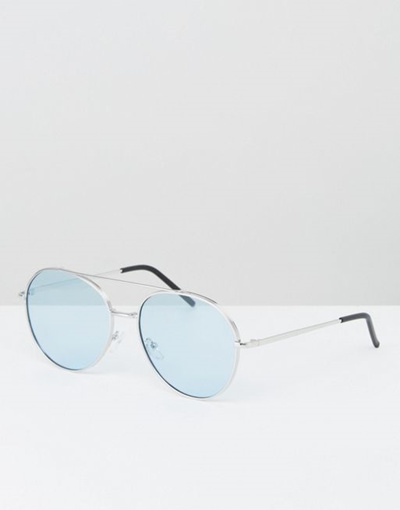 b796be0f3e Qoo10 - AJ Morgan Aviator Sunglasses With Blue Lens   Men s Bags   Shoes