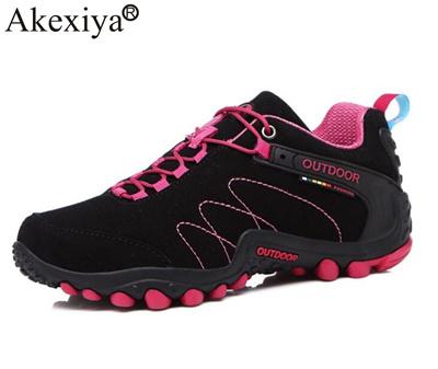 e620ebd655d Akexiya Autumn/Winter Women Men Hiking Shoes Unisex Trainers Trekking Woman  Climbing Shoes Male Hunt