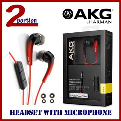 eb23f3e0acf AKG K328 HIGH PERFORMANCE IN-EAR HEADSET / HEADPHONE WITH MIC - SUNBURST RED