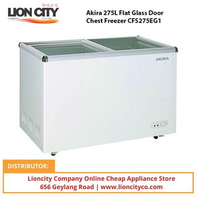 Qoo10 Akira 275l Flat Glass Door Chest Freezer Cfs275eg1 Major