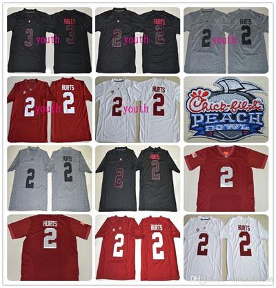 6e787b98d Qoo10 - Alabama Crimson Tide playoff Jerseys youth kids Men Jalen Hurts 2  Ridl...   Sports Equipment