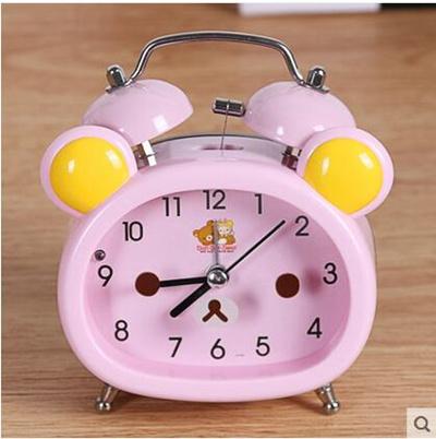 Alarm Clock Creative Cute Cartoon Students Simple Mute Bedroom Bedside  Children Ultra Loud Alarm