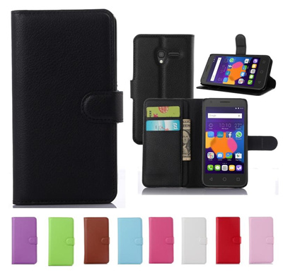 new products 408ef 1e41e ALCATEL ONE TOUCH PLUS 2 POP 3 PIXI 4 GO Play flip case cover card slot