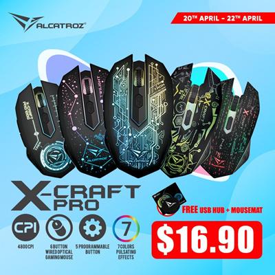 ALCATROZALCATROZ ESSENTIAL Gaming Mice - X-CRAFT CLASSIC | CYBORG C2 |  X-CRAFT PRO Local Stocks