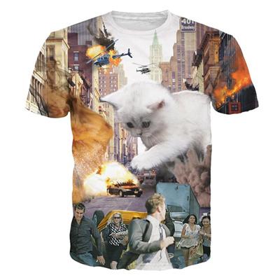 5d7bc8400165 Qoo10 - Alisister 2018 New 3d Cat T Shirt Printed Animal T-shirt Women Men  Fun... : Men's Apparel