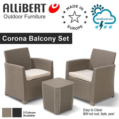 Allibert Corona Cappuccino ― Salon de Jardin 4 places - Aspect ...
