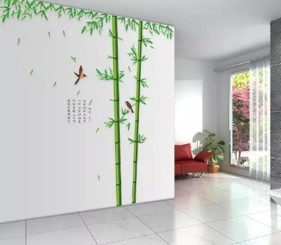 Alrens_DIY(TM)Green Bamboo Bird Wall Murals Art DIY Wall Stickers Home  Decor Decal for Kids Children