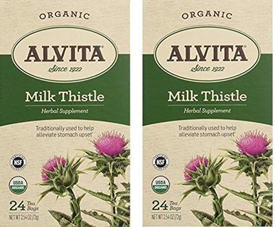 Alvita Teas Organic Herbal Tea Bags Milk Thistle 24