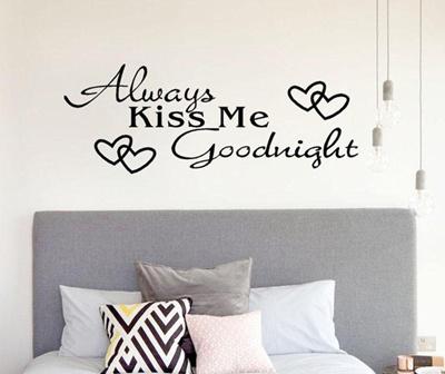 Qoo10 Always Kiss Me Goodnight Home Decor Wall Sticker Stickers