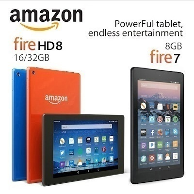 Amazon Fire 7 Tablet 8GB Black WiFi / HD 8 Tablet thin and light 8/16/32GB