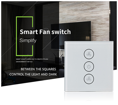AmazonWiFi Smart Ceiling Fan Switch APP Remote Timer and Speed Control  Compatible Alexa and Google Home