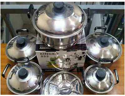 Original Kingko America High Pots Panci Set Steamerkukusanlangseng 5 Source · American Pot High Steamer Pot 5pcs Set Steamed Pot SJ0191 k0003