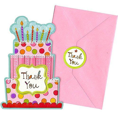 Qoo10 - (Amscan)/Baby Stationery/Thank You Cards/DIRECT FROM