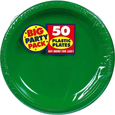 Qoo10 - Amscan Big Party Pack 50 Count Plastic Lunch Plates, 10.5 ...