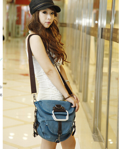 680e9c730917 Qoo10 - ANAWISHARE Fashion Women Canvas Handbags Large Shoulder School Bags  Fo...   Bag   Wallet