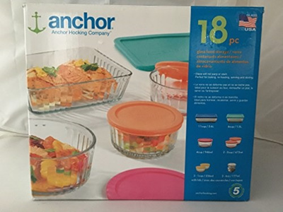 ffd46b2a01 Qoo10 - Anchor hocking 18 piece glass food storage set : Kitchen & Dining