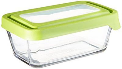 624e33eed171 Anchor Hocking TrueSeal Glass Food Storage Containers with Airtight Lids,  Green, 4 3/4 Cup (Set of 4