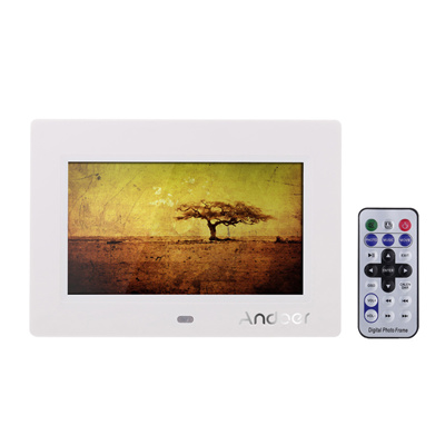 Qoo10 - Andoer 7 HD TFT-LCD Digital Photo Frame with Slideshow Alarm ...