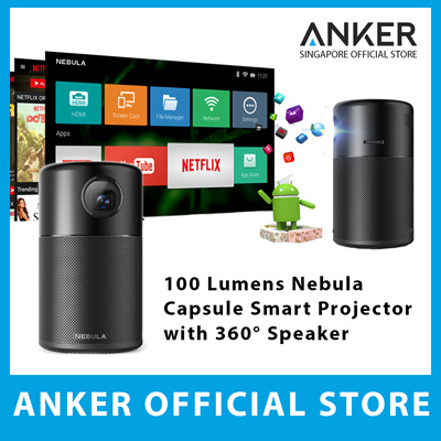 cdcda3c690c Anker Nebula Capsule Portable Smart Projector 360° Speaker 100 Lumens Wifi  Bluetooth Android System