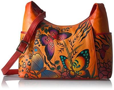 abcc3812d6de Anna by Anuschka Women s Genuine Leather Large Hobo Handbag | Zip-Top  Organizer