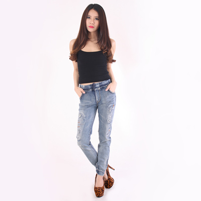 ANNORA DENIM COLLECTION - Ripped Jeans - Jogger Jeans - Celana Jeans Wanita  - BIG SIZE c88c3f5700