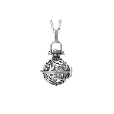 Qoo10 antique silver locket essential oils diffuser perfume antique silver locket essential oils diffuser perfume pendant necklace jewelry with pompon ball aloadofball Image collections