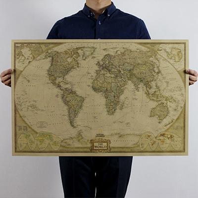 Qoo10 antique vintage retro poster log the world map decor giant antique vintage retro poster log the world map decor giant chart the atlas gumiabroncs Images