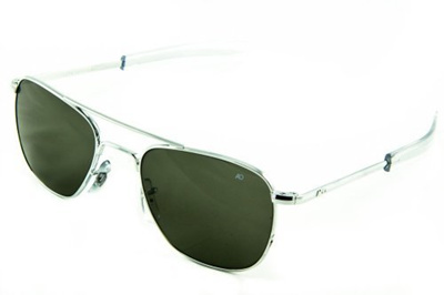 a16159aeedc3e (AO Eyewear) AO Eyewear Original Pilot Sunglasses 55mm Green Non-Polarized  Optical Glass