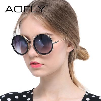 Qoo10 - aofly women sun glasses mirror lens shades metal frame round sun  glass...   Fashion Accessor. 047917b3d0