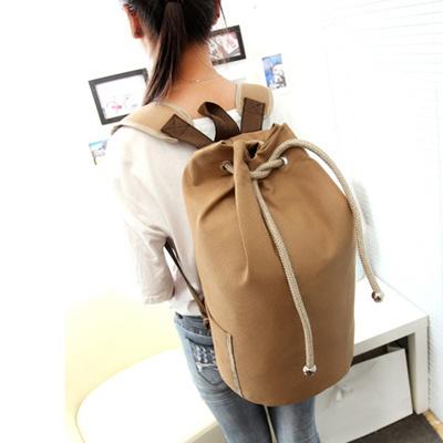 b4aaea54dc46 Aosbos Canvas Sports Bags Lanyard Bucket Gym Bag for Women  Men Drawstring  Yoga Bag Outdoor