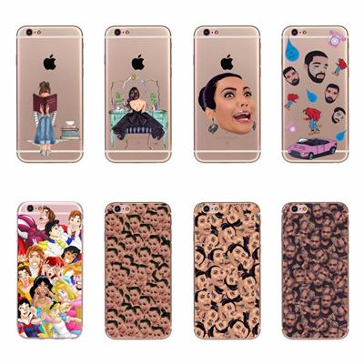 size 40 1862c 6602f Apple iPhone 6 Plus Head Drake Kim Kardashian Kanye Kimoji Design Case  Cover iPhone 6s Plus TPU