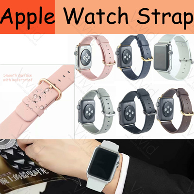 f0401f0397f313 Qoo10 - Apple watch strap classic leather strap is smooth and waterproof  band... : Mobile Accessori.